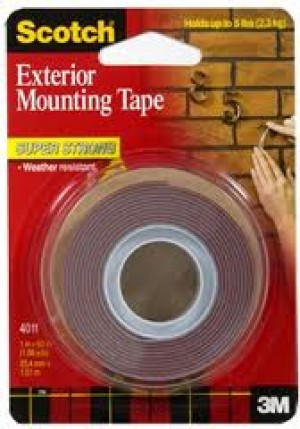 MOUNTING TAPE SCOTCH 25mm x 1.5m EXTERIOR #4011 (price excludes gst)