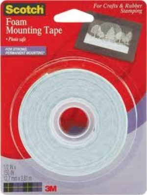 MOUNTING TAPE SCOTCH 25mm x 3.8m FOAM #4013 (price excludes gst)