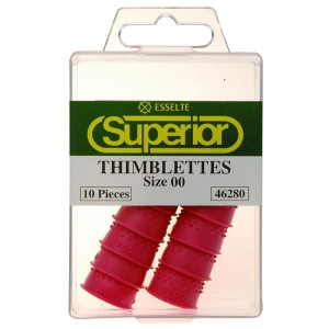 FINGER COTS (THIMBLETTES) SIZE 00 (price excludes gst)