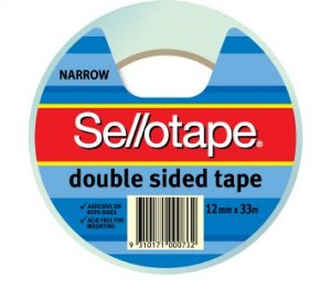 DOUBLE SIDED TAPE #404 12mm x 33 #960602 (price excludes gst)