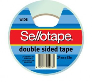 DOUBLE SIDED TAPE #404 24mm x 33m #960606 (price excludes gst)