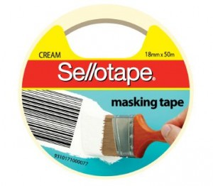 MASKING TAPE SELLOTAPE 18mm x 50m #960502 (price excludes gst)