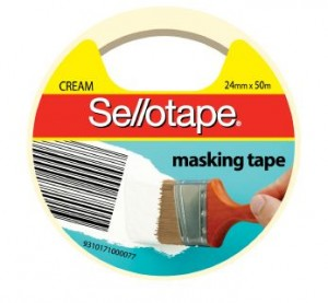 MASKING TAPE SELLOTAPE 24mm x 50m