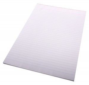 RULED SUPER BANK PAD A4 WHITE (price excludes gst)