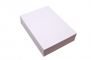 RULED OFFICE PAD A5 WHITE  (PKT 10)