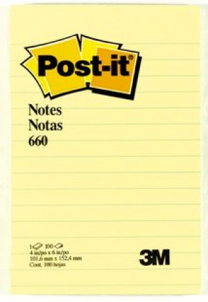 POST-IT NOTE PAD LINED #660 (price excludes gst)