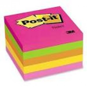 POST-IT NOTE PAD #654-5PK (5's) NEON (price excludes gst)