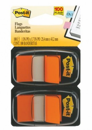 POST-IT TAPE FLAG TWIN PACK #680-OE2 ORANGE (price excludes gst)