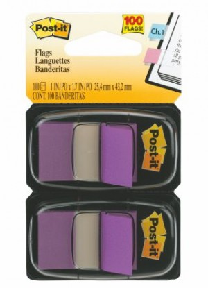 POST-IT TAPE FLAG TWIN PACK #680-PU2 PURPLE (price excludes gst)