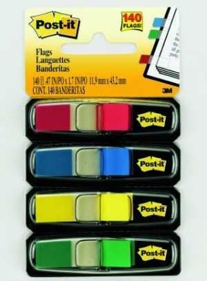 POST-IT TAPE FLAG #683-4 ASSORTED (price excludes gst)
