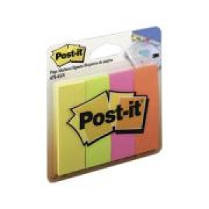 PAGE MARKER POST-IT 671-4AN  25mm x 76mm  (price excludes gst)