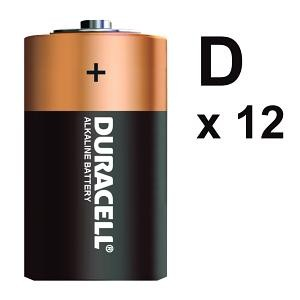 BATTERY DURACELL D (BOX 12)
