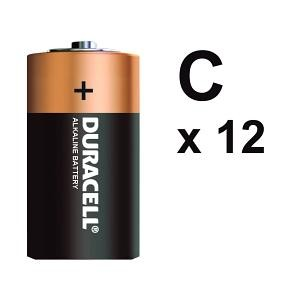 BATTERY DURACELL C (BOX 12)