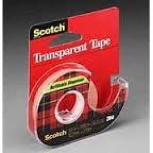 3M TRANSPARENT TAPE #600 DISPENSER 18mm x 33m (price excludes gst)