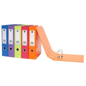 PVC LEVER ARCH FILE A4 SUMMER COLORS ORANGE