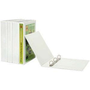 CLEARIEW INSERT BINDER A4 2 RING 38mm WHITE (price excludes gst)