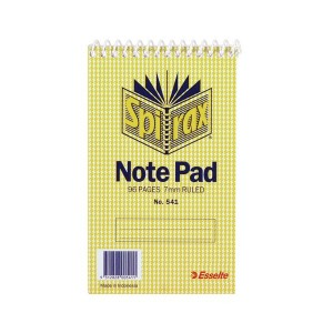 SPIRAL NOTEBOOK #541 (147mm x 87mm) (price excludes gst)