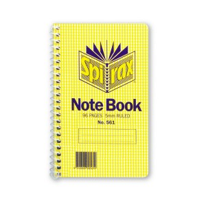 SPIRAL NOTEBOOK #561 (147mm x 87mm) (price excludes gst)
