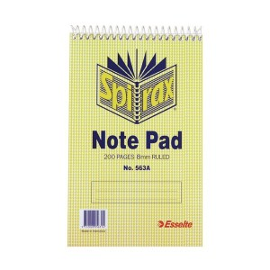 SPIRAL NOTEBOOK #563A 200pg (200mm x 127mm) (price excludes gst)