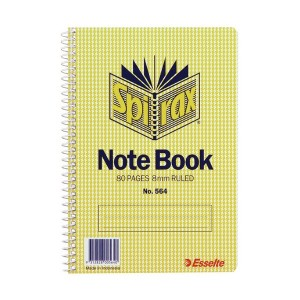 SPIRAL NOTEBOOK #564 (167mm x 114mm) (price excludes gst)