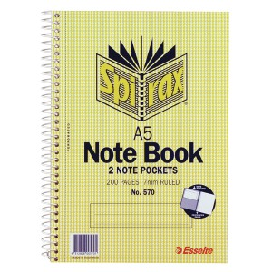 SPIRAL NOTEBOOK #570 A5 200pg (210mm x 148mm)