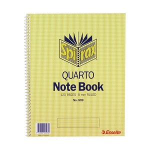 SPIRAL NOTEBOOK #593 QTO (252mm x 200mm) (price excludes gst)