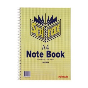 SPIRAL NOTEBOOK #595A A4 240 pg (price excludes gst)