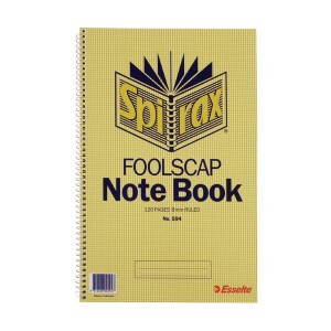 SPIRAL NOTEBOOK #594 F'cap (price excludes gst)