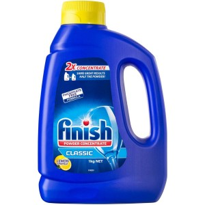 FINISH DISHWASHER CONCENTRATE POWDER 1KG LEMON (price excludes gst)