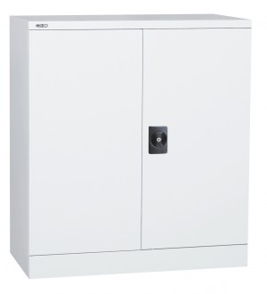 GO STATIONERY CUPBOARD METAL 1000mm High 2 SHELVES WHITE (price excludes gst)