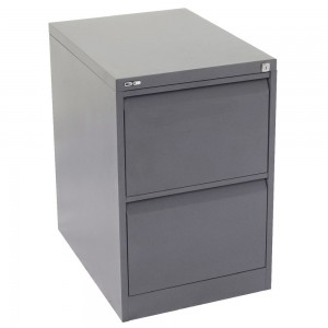 GO 2 DRAW METAL FILING CABINET GRAPHITE RIPPLE (price excludes gst)
