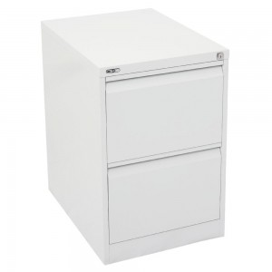 GO 2 DRAW METAL FILING CABINET WHITE (price excludes gst)