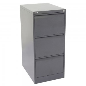 GO 3 DRAW METAL FILING CABINET GRAPHITE RIPPLE (price excludes gst)