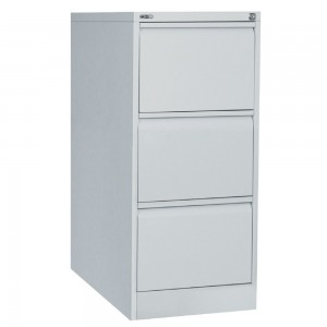 GO 3 DRAW METAL FILING CABINET SILVER GREY (price excludes gst)