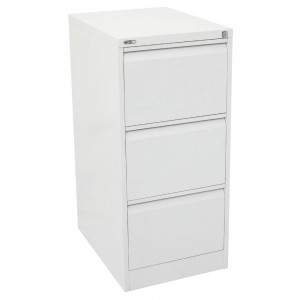 GO 3 DRAW METAL FILING CABINET WHITE (price excludes gst)