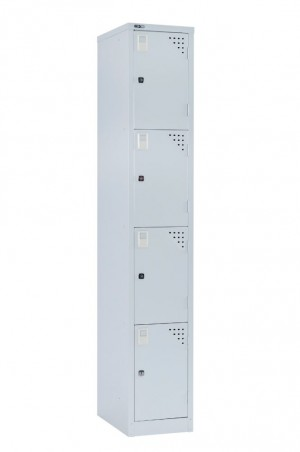 GO FLAT TOP LOCKER 4 TIER 305mm Wide SILVER GREY (price excludes gst)