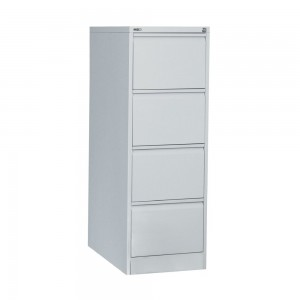 GO 4 DRAW METAL FILING CABINET SILVER GREY (price excludes gst)