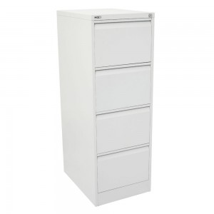 GO 4 DRAW METAL FILING CABINET WHITE (price excludes gst)