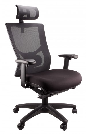 GRANADA HIGH BACK MESH EXECUTIVE CHAIR BLACK (price excludes gst)
