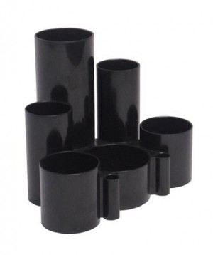 DESK TIDY TUBE BLACK #I-30 ITALPLAST  (price excludes gst)