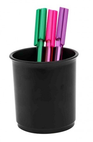 PEN & PENCIL CUP STANDARD #I-50 BLACK ITALPLAST (price excludes gst)