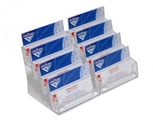 BUSINESS CARD DISPLAY 8-TIER #I-554 CLEAR ITALPLAST (price excludes gst)