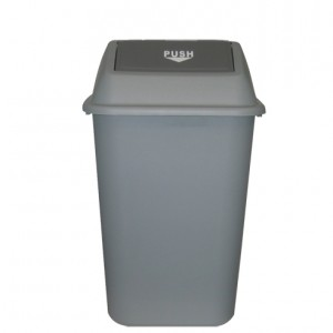 42L HEAVY DUTY WASTE BIN WITH SWING TOP LID I-182