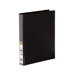 CLEARVIEW INSERT BINDER A4 2 RING 25mm BLACK