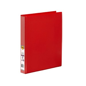 CLEARVIEW INSERT BINDER A4 2 RING 25mm RED