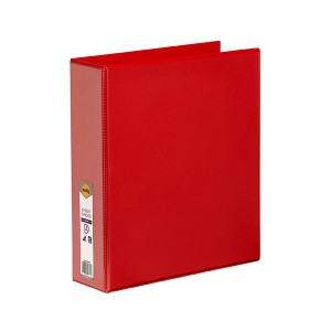 CLEARVIEW INSERT BINDER A4 2 RING 50mm RED