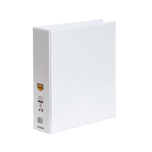 CLEARVIEW INSERT BINDER A4 2 RING 50mm WHITE