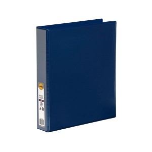 CLEARIEW INSERT BINDER A4 2 RING 38mm BLUE
