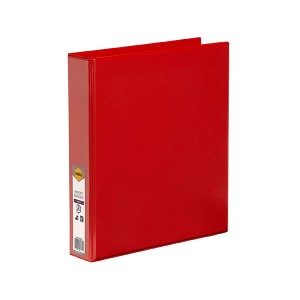 CLEARIEW INSERT BINDER A4 2 RING 38mm RED