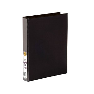 CLEARVIEW INSERT BINDER A4 3 RING 25mm BLACK